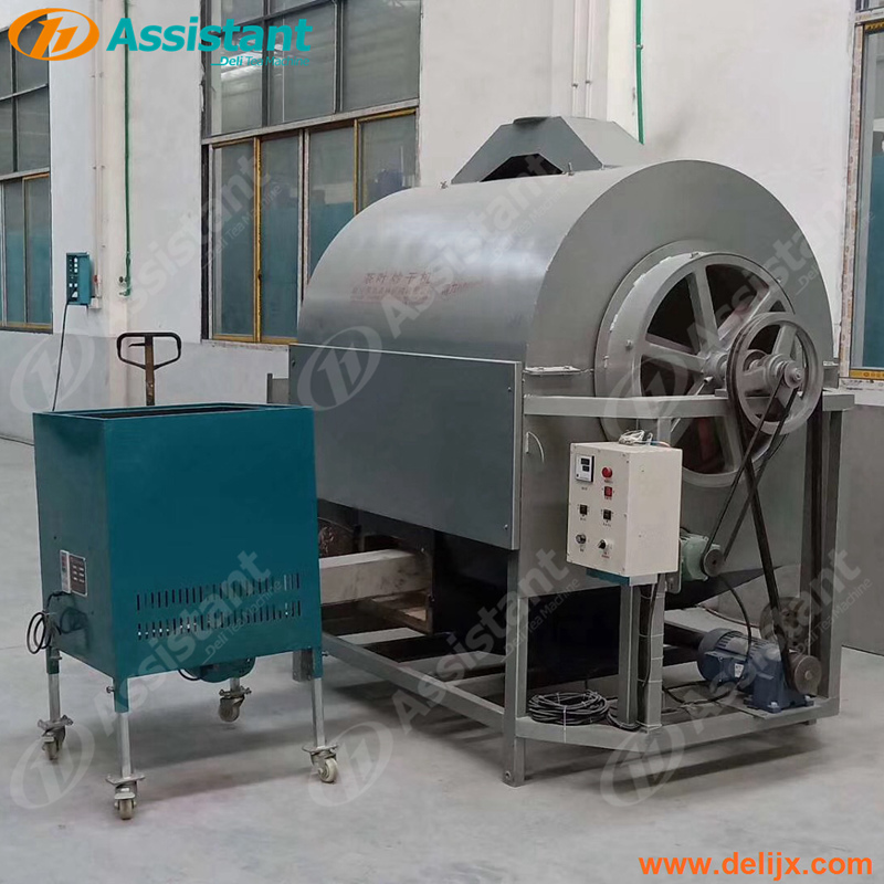 Green Tea Leaf Stir Dry Machine Rotating Roasting Drum Dryer Tea Drying Machine 6CSTP-CM90