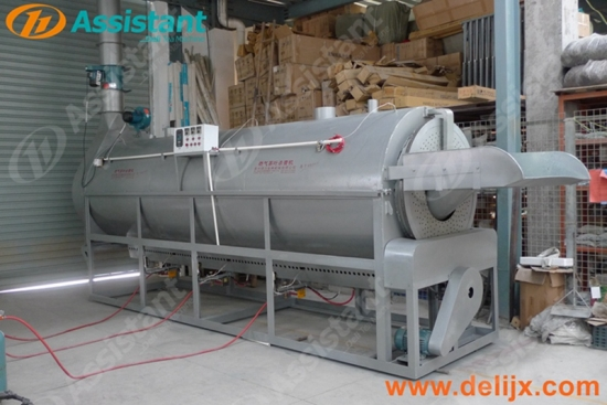 Tea Leaf Steaming Machine For Many Kinds Of Tea Gas Heating Continuous Type